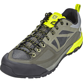 Salomon X Alp Spry Hiking Shoes Men Castor Gray/Beluga/Lime Punch
